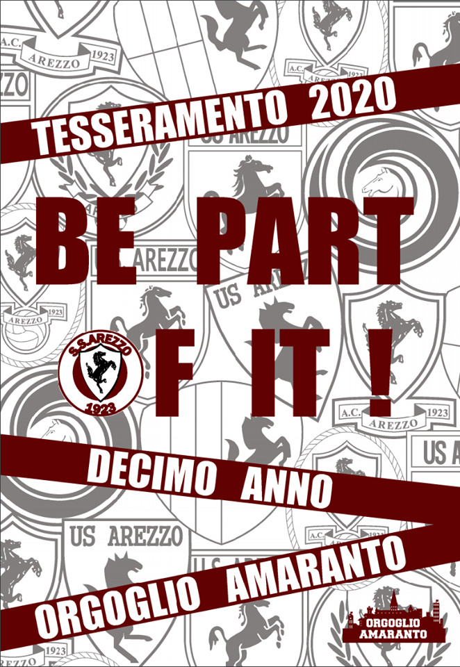 BE PART OF IT! DECIMO ANNO. AL VIA LA CAMPAGNA TESSERAMENTO